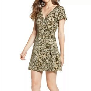NWT Anthropologie leopard mini dress